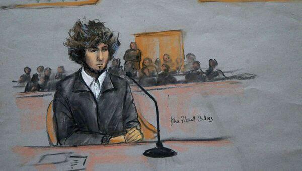 Courtroom sketch of Boston Marathon bomber Dzhokhar Tsarnaev - Sputnik International