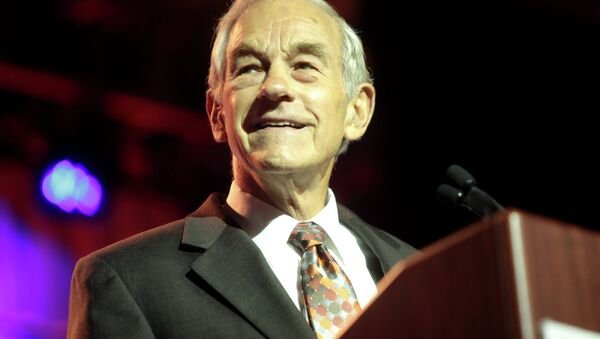 Former Congressman Ron Paul of Texas speaking at the 2014 Liberty Political Action Conference (LPAC) at the Hilton Alexandria Mark Center in Alexandria, Virginia. - Sputnik International