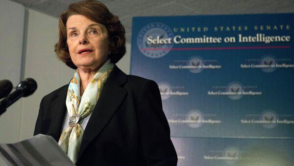 Senate Intelligence Committee Chair Senator Dianne Feinstein speaks after a closed-door meeting on Capitol Hill in Washington, Thursday, April 3, 2014. - Sputnik International