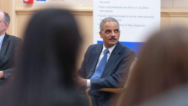U.S. Attorney General Eric Holder visits New Zealand for the annual meeting of Attorney Generals from New Zealand, Australia, Canada, and the United Kingdom. - Sputnik International