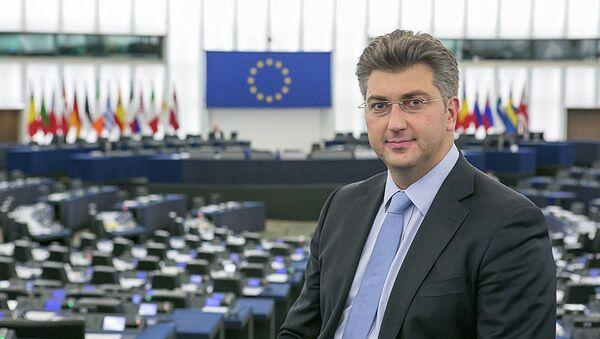 Head of the European Parliament Delegation  Andrej Plenković - Sputnik International