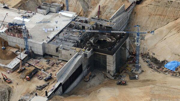The construction site of Vostochny space center near Uglegorsk village in the Amur Region - Sputnik International