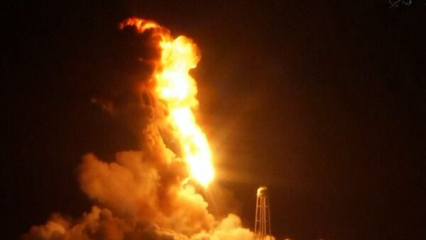 Antares Rocket Carrying Cygnus Cargo Module Explodes. - Sputnik International
