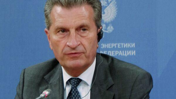 European Commissioner for Energy and European Commission Vice-President Gunther Oettinger - Sputnik International
