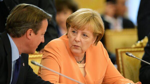 Federal Chancellor of Germany Angela Merkel and British Prime Minister David Cameron - Sputnik International
