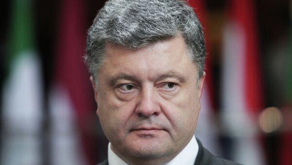 Ukrainian President Petro Poroshenko said Kiev considers introducing changes to its action plan amid Donbas elections - Sputnik International