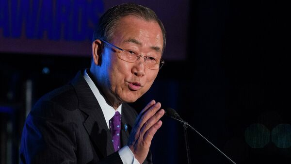 United Nations Secretary General Ban Ki-moon calls for the Kiev authorities and the independence supporters of eastern Ukraine to urgently recommit themselves to the implementation of the Minsk agreements  United Nations Secretary General Ban Ki-moon calls for the Kiev authorities and the independence supporters of eastern Ukraine to urgently recommit themselves to the implementation of the Minsk agreements - Sputnik International