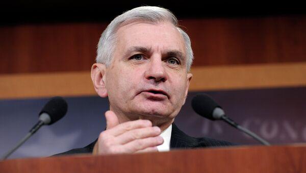 Sen. Jack Reed, D-R.I., speaks during a news conference on unemployment insurance on Capitol Hill in Washington, Thursday, Feb. 6, 2014 - Sputnik International