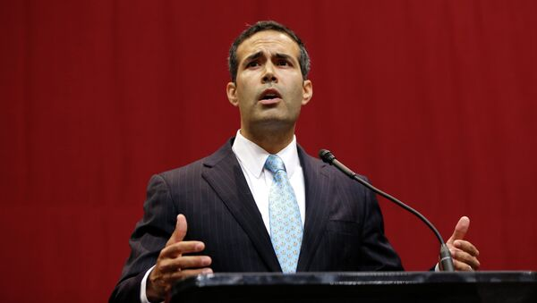 George P. Bush delivers his victory speech after winning the race for Texas land commissioner - Sputnik International