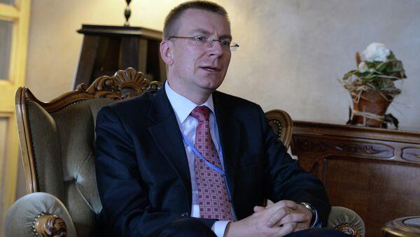 Latvian Foreign Minister Edgar Rinkevics - Sputnik International