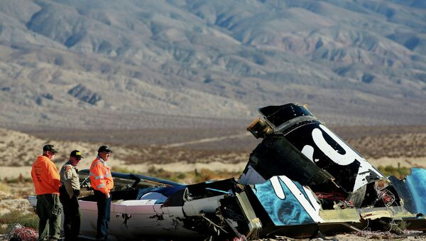 The suborbital spaceplane SpaceShipTwo crashed during a test flight in the United States after a serious anomaly. - Sputnik International