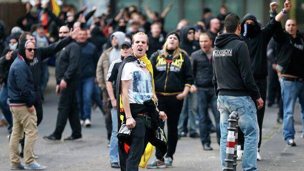 A demonstration by German far-right groups, October 26, 2014. - Sputnik International