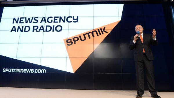 Dmitry Kiselev presented new media brand Sputnik - Sputnik International