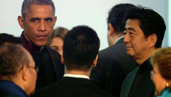 U.S. President Barack Obama and Japanese Prime Minister Shinzo Abe - Sputnik International