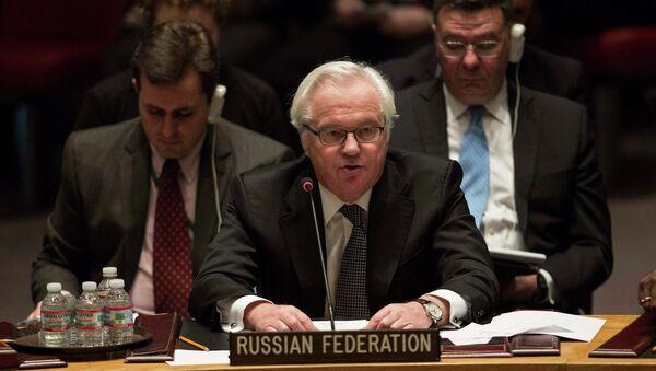 Russia's Envoy to UN Vitaly Churkin - Sputnik International