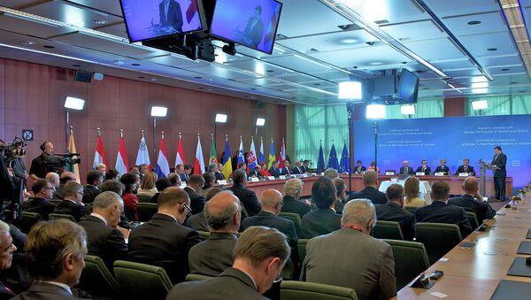 Signature ceremony of the Association Agreements between the EU and Georgia, Moldova and Ukraine - Sputnik International