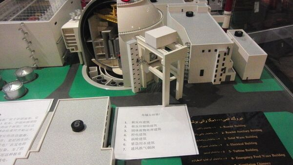 Model of the Bushehr Nuclear Power Plant - in the Iranian pavilion of EXPO 2010 Shanghai - Sputnik International