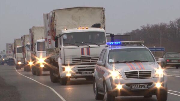 Russian Humanitarian Convoy Trucks - Sputnik International