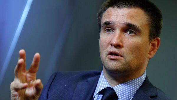 Ukraine's Foreign Minister Pavlo Klimkin  said Ukraine to send ambassador back to Russia in case relations improve - Sputnik International