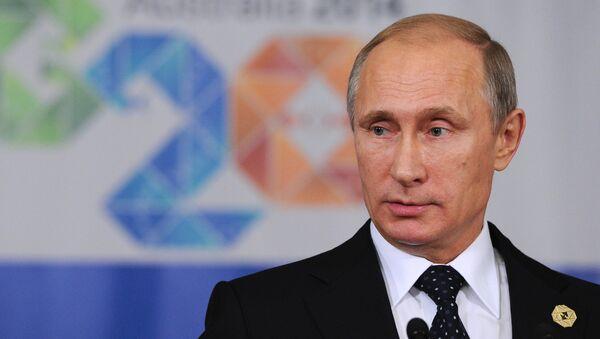 Russian President Vladimir Putin at the G20 summit in Australia. - Sputnik International