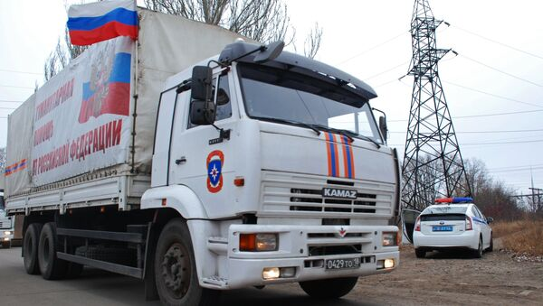 Presents for Orthodox Christmas for eastern Ukrainian children will be delivered by Russia's 11th humanitarian convoy to the region - Sputnik International