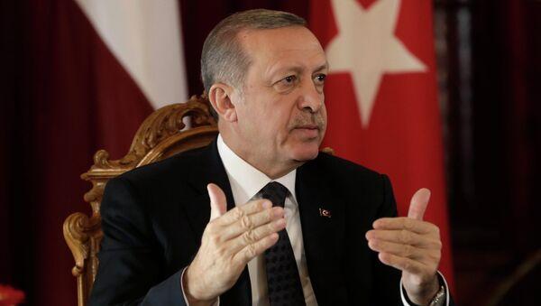 Turkey's President Recep Tayyip Erdogan speaks during a news conference in Riga October 23, 2014. - Sputnik International