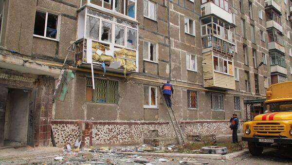 Town of Horlivka after shelling by Ukrainian army - Sputnik International