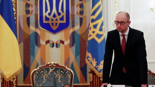 Ukraine's Prime Minister Arseny Yatsenyuk - Sputnik International