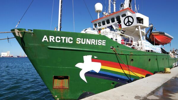 The Spanish government has seized the Arctic Sunrise vessel of Greenpeace at the Arrecife port of the island of Lanzarote - Sputnik International
