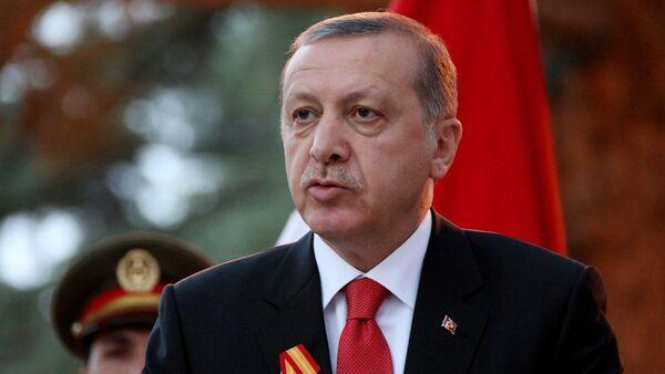 Turkish President Recep Tayyip Erdogan attends a joint press conference - Sputnik International