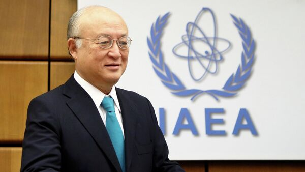 Yukiya Amano, director of the International Atomic Energy Agency (IAEA), welcomes the political agreement reached by Iran and the P5+1 group on Tehran's nuclear program. - Sputnik International