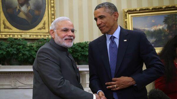 United States President Barack Obama meets with Indian Prime Minister Narendra Modi - Sputnik International