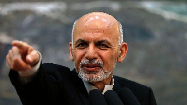 Afghanistan's President Ashraf Ghani points while speaking during a news conference in Kabul - Sputnik International