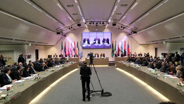 Archive photo. OPEC ministers and delegates gather for a meeting of the Organization of the Petroleum Exporting Countries (OPEC) at its headquarters in Vienna, Austria. - Sputnik International