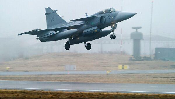 Swedish Air Force's JAS 39 Gripen jet fighter aircraft - Sputnik International