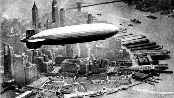 Futuristic Interiors of German WWII Airship Hindenburg - Sputnik International