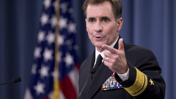 Pentagon spokesperson Rear Adm. John Kirby said that the US army has not yet begun the vetting and recruiting moderate Syrian opposition forces to fight Islamic State - Sputnik International
