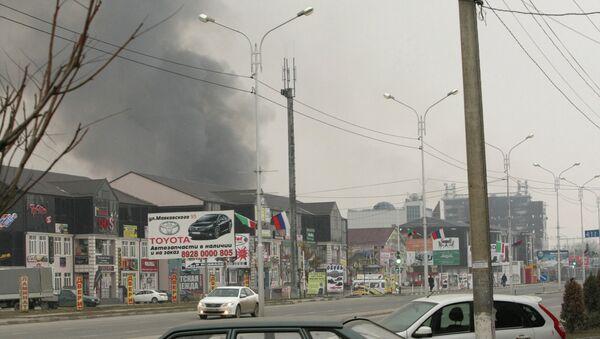 Counter-terrorism operation at Press House in Grozny - Sputnik International