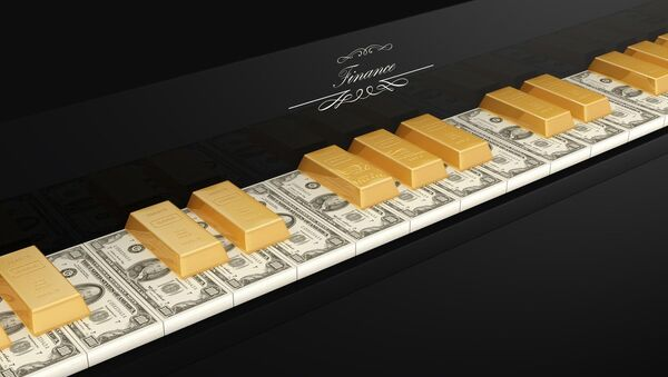 Dollars and gold ingots - Sputnik International