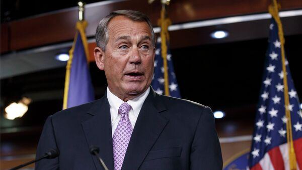 House Speaker John Boehner of Ohio meets with reporters on Capitol Hill in Washington, Thursday, Dec. 4, 2014 - Sputnik International
