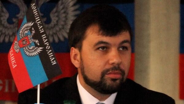 Co-chairman of the National Front of Novorossiya Denis Pushilin - Sputnik International