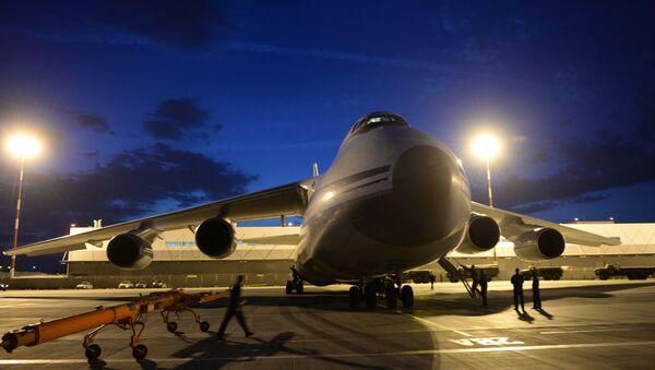 The cargo airplane, an Antonov 124, had a regular flight plan from Bangui to Ndjamena, French Embassy in Nigeria said - Sputnik International