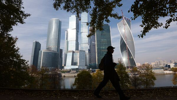A passer-by near the Moscow International Business Center Moscow-City in Moscow - Sputnik International