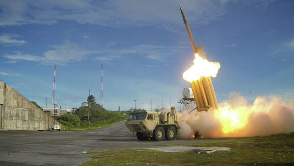 Two Terminal High Altitude Area Defense (THAAD) interceptors are launched during a successful intercept test. File photo - Sputnik International