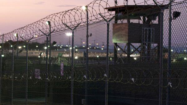 Guard tower at dawn at Camp Delta the military prison at Naval Base Guantanamo Bay Cuba - Sputnik International
