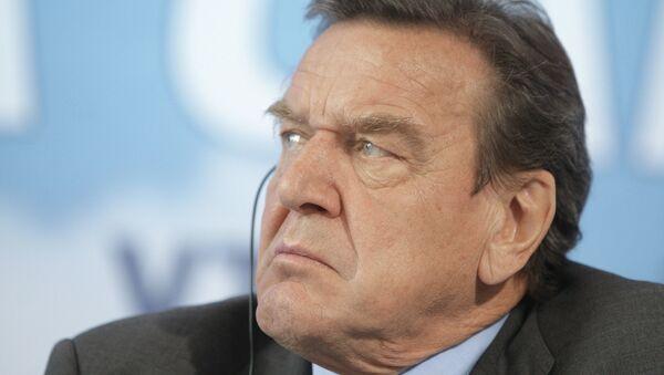Gerhard Schroeder attends VTB Capital investment forum - Sputnik International