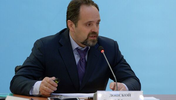 Russian Minister of Natural Resources and Ecology Sergey Donskoy - Sputnik International