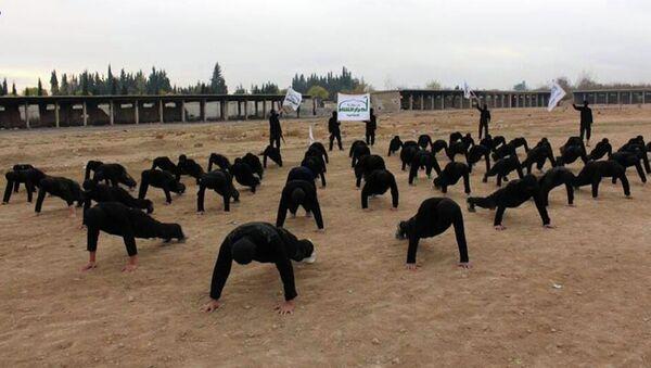 Militant group, members of Ahrar al-Sham brigade, one of the Syrian rebels groups - Sputnik International