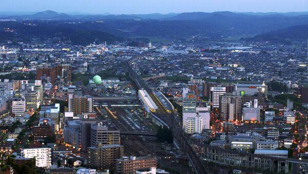 Fukushima Station and Shinkansen Tracks at Twilight - Sputnik International