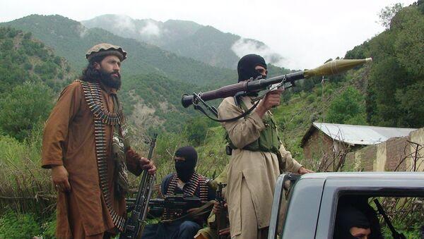 Pakistani Taliban patrol in their stronghold of Shawal in Pakistani tribal region of South Waziristan - Sputnik International